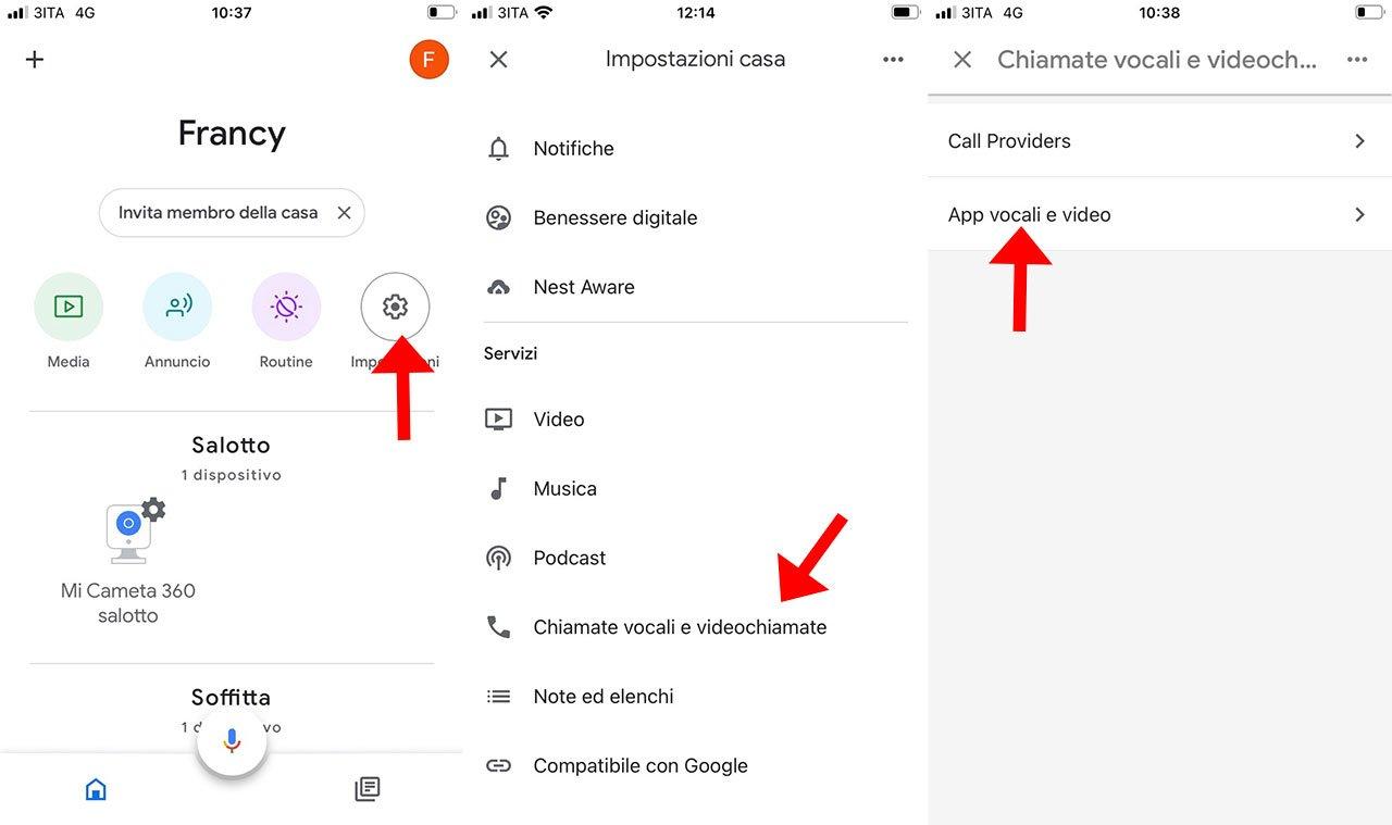 Google Nest Hub videochiamata