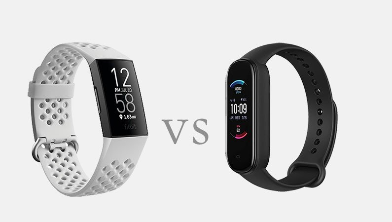 Amazfit Band 5 vs Fitbit Charge 4